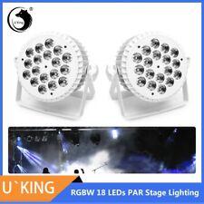 2Pcs 200W Stage Light Rgbw 18Led Dmx Par Can Aluminum Shell Party Disco Uplight