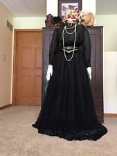 Antique Victorian Edwardian Silk Chiffon 3 Pc Dress