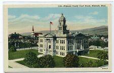 Court House Missoula Montana linen postcard