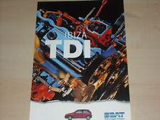 50316) Seat Ibiza TDI Prospekt 10/1996