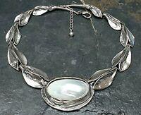 Imposantes 925 Silber Collier von Perli mit großer Muschel Deutschland 80th/A857