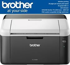 Brother HL-1212W WiFi A4 Mono Laser Printer + GENUINE Brother Toner + XL Toner