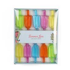 Lot de 10 multicolore Pile Glace À L'eau Lumières 170 cm LED Ficelle