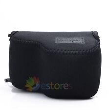 Neoprene Soft Camera Case Pouch Bag for Sony NEX 5T/5R/3N/A5000 16-50mm Lens BK