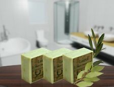 6 Bars Traditional Aleppo  Daphne Soap;Hand-made from olive oil and laurel oil