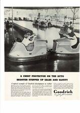 VINTAGE 1937 GOODRICH AUTO SKOOTER BUMPER CARS GIRLS AMUSEMENT PARK AD PRINT ART