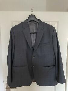Herren Maß-Anzug Grau-Gestreift günstig abzugeben