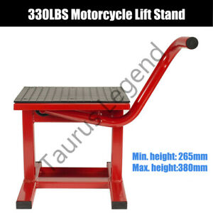 Dirt Bike Motorcycle Lift Motorbike Stand Work Bench Lifter Red