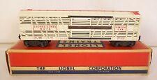 LIONEL POSTWAR #6376 LIONEL LINES CIRCUS STOCK CAR-VG+ IN ORIG. BOX!