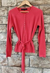 French Connection  Belted Buttoned Lightweight Jumper Size M