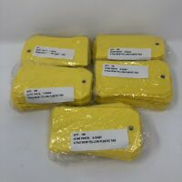 """ULine S-5544Y - Plastic Tags - 4 3⁄4 X 2 3⁄8"""", Yellow Lot Of 500 (D)"""