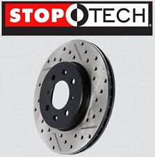 FRONT [LEFT & RIGHT] Stoptech SportStop Drilled Slotted Brake Rotors STF44088