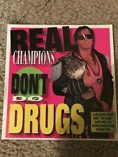 "Vintage 1994 WWF HITMAN BRET HART ""SAY NO TO DRUGS"" Photo Print Ad WWE 90s RARE"