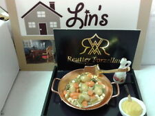 Reutter porcelain Dolls House 1:12th Scale Vegetable Pan Set 14678