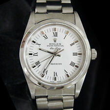 White & Black Roman Dial Oyster 14000 Rolex Air King Mens Stainless Steel Watch