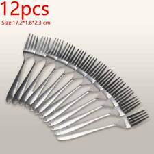 12 X STAINLESS STEEL CUTLERY  DESSERT FORK DURABLE FOR KID