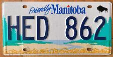 Nummernschild KANADA Canada Kennzeichen Friendly MANITOBA HED 862 Büffel BUFFALO