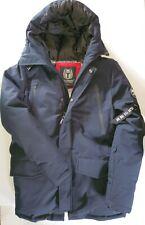 Molemsx Men's Warm Winter Down Jacket Parka Puffer Coat Navy Size XS