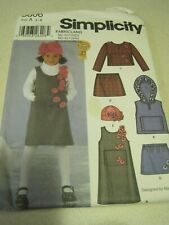 UNCUT SIMPLICITY GIRL'S LOT Sewing Pattern # 5806 Sz 3 - 8 2002
