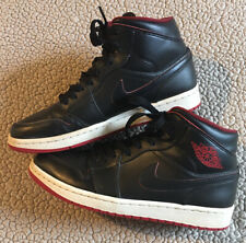 Men's Air Jordan 1 Mid Black and Gym Red 554724-028 Size 8.5