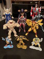Lot Of 10 Power Rangers Villains Action Figures Bandai 1993-1994 Goldar Rare