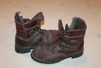 Vintage Worn-out Pair of Harley Davidson Motorcycles Boots.