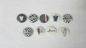 MADNESS SUGGS - BUTTON BADGE - UK SKA / 2-TONE  UK BAND ONE STEP BEYOND 25mm PIN