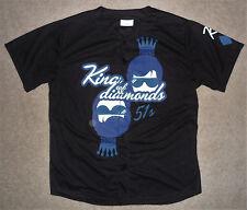 LAS VEGAS 51s KING OF DIAMONDS ELVIS THE HANGOVER Black Minor League JERSEY XL