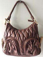 RAOUL real leather ladies burnished brown quilted underarm shoulder bag
