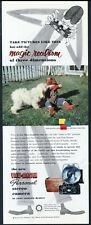 1953 Komondor or white Puli puppy photo View Master camera vintage print ad