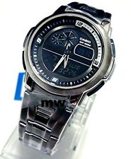 NEW CASIO AQF-102WD-1 OUTGEAR THERMOMETER WORLD TIME ALARM MEN'S WATCH AQF102W