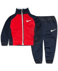 New Nike Little Boys 2-Pc. Colorblocked Swish Track Suit Set size 4T Toddler