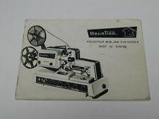NOTICE HEURTIER P6 24 projecteur pour FILM 8 et S8 muet et sonore ciné cinéma