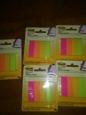 "5X 3M Post-It Brand Page Marker Notes 0.5"" x 1.75"" 200 Pages 4 Colors Each 50"