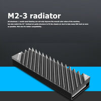 For Laptop PC M.2 2280 SSD Hard Disk Aluminum Heat Sink with Thermal Pad