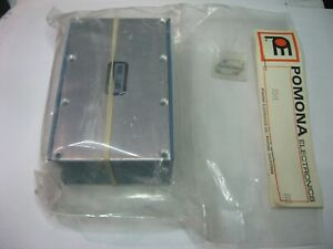 """Pomona 3301 Chassis Aluminum Blue 4-1/8"""" x 2-5/8"""" x 1-5/8"""" LWH - NOS Qty 1"""