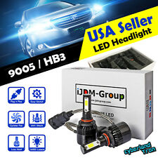 2 x 9005 HB3 9011 COB White LED Headlight 6000K 160000LM Bulbs for High Beam
