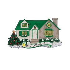 Irish House Personalized Christmas Tree Ornament