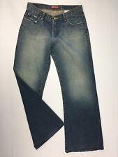 "RIP CURL Girl 069 Women's Jeans size 10 Blue Denim waist= 29"" Wide Leg Ladies"