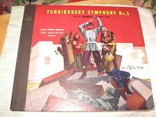 """Tchaikovsky, Victor #DM1057. Symphony No. 5 in E Minor Op. 64,78 rpm,12"""",E+."""