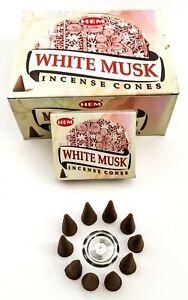Hem White Musk Incense Cones - Pick 10-20-30-50-100-120 Free Shipping!