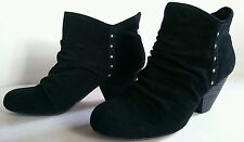 $99 Dr. Scholl's Arch-Black Suede 9.5 Women Amazing Ankle Bootie Slip on Boots