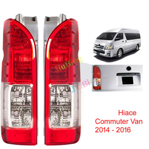 2PCS REAR BRAKE RH+LH TAIL LIGHT LAMP FOR TOYOTA HIACE COMMUTER VAN 2014-2016