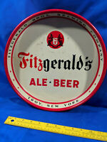 Fitzgerald's Ale Beer Tray Metal Serving Advertising Troy, New York NY Bros