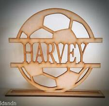 """Free standing Personalised """"Football"""" MDF blank craft Plaque/sign"""