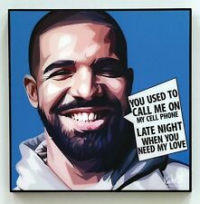 9f7b9e5a335 Drake canvas quote wall decals photo painting pop art poster