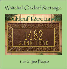 Whitehall Oakleaf Address Personalized Plaque Sign - 17 Color Choices Rust