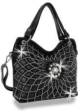 Womens Rhinestones Bling Design Layered Handbag