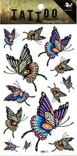 Temporary Tattoo Colourful Butterflys Ladies Body Art Removable HM411
