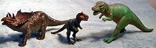 3 Vicious Dinosaurs - Tyranosaurus Rex - Triceratops - Velociraptor